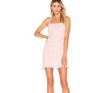Revolve x Lovers + Friends Pink Amy Dress